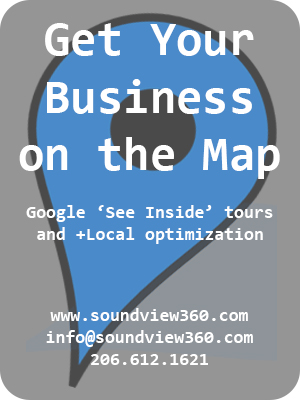 get on the map with soundview360.com and google business photos