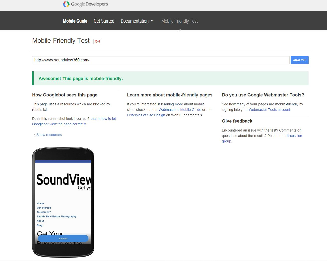 make your site mobile friendly